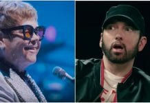 Elton John accepts Eminem's apology for using homophobic slur