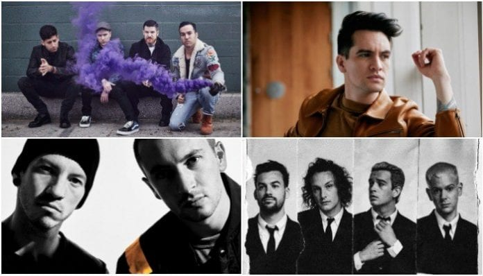 twenty one pilots, fall out boy, the 1975 more nominated for MTV's EMA