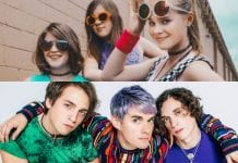 Awsten Knight with members of Waterparks and Not Ur Girlfrenz