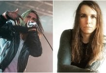 Scorpios Keith Buckley from Every Time I Die and Laura Jane Grace from Against Me.