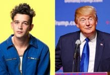 Matty Healy and Trump