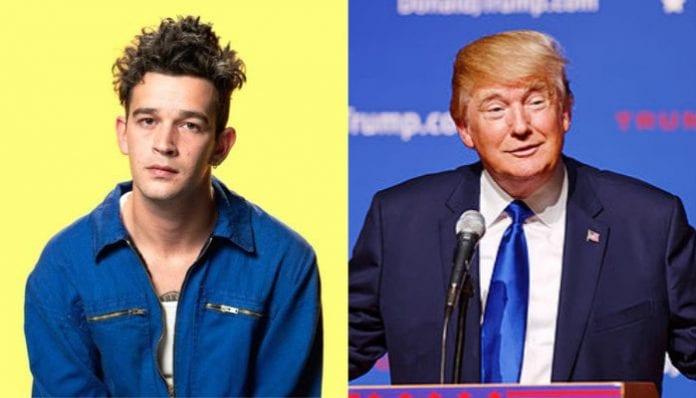 Matty Healy and Trump