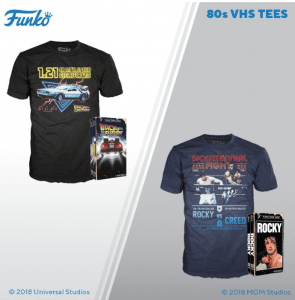 You need to see these Funko vintage '80s-inspired VHS shirts