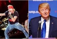 Axl Rose, Trump
