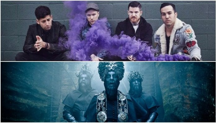Fall Out Boy's Andy Hurley jams with Behemoth