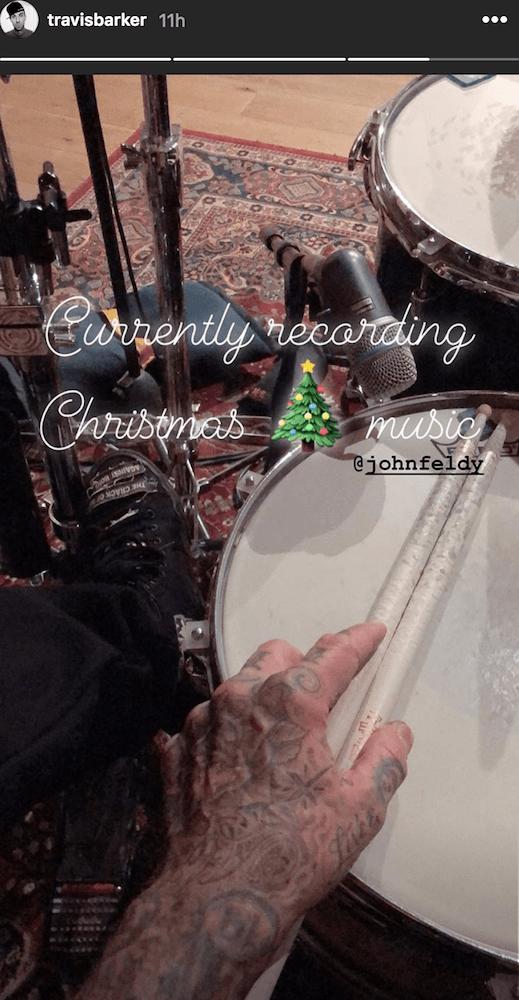 christmas travis barker