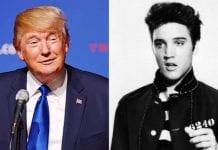 Donald Trump and Elvis.