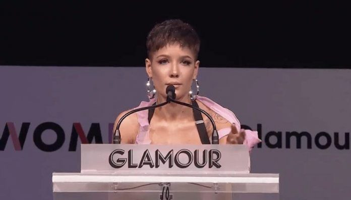 halsey glamour speech inconvenient woman