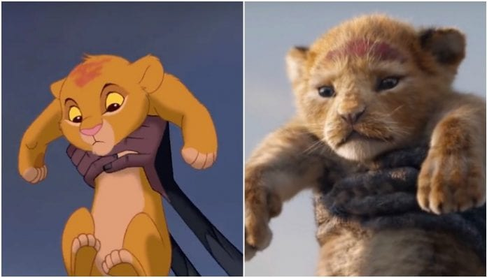 Disney's 'The Lion King' side-by-side comparison