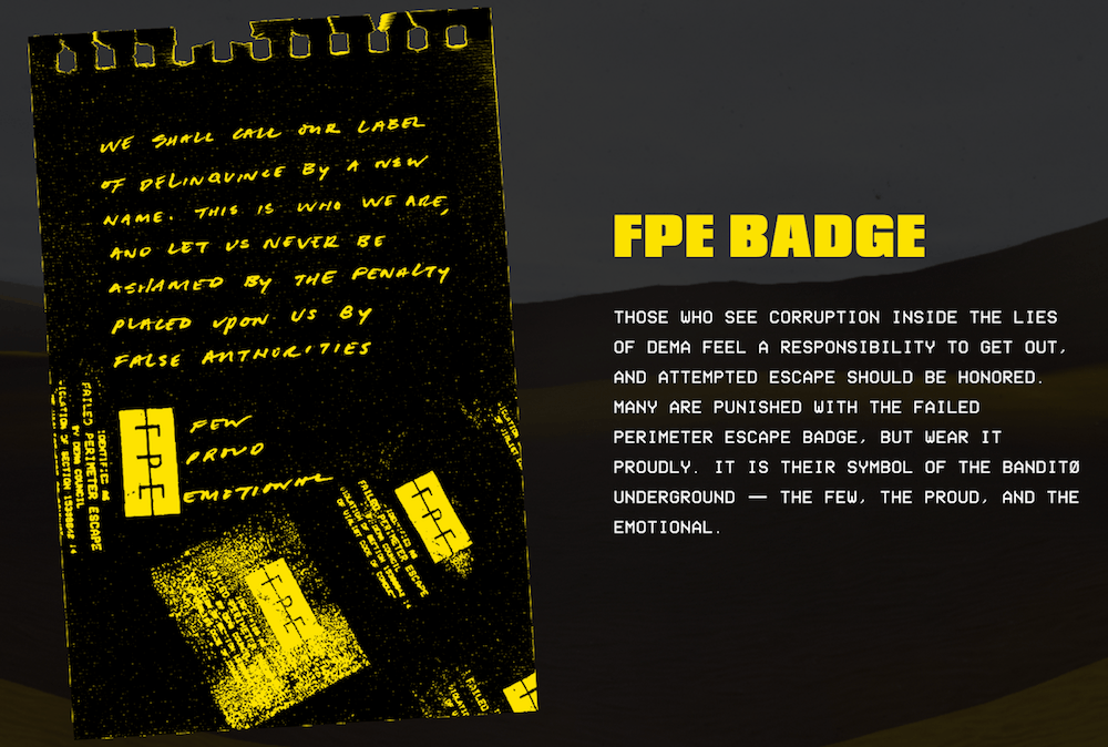 bandito experience FPE badge