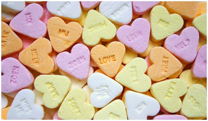 Anti-love candy hearts