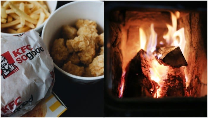 KFC is selling a fire log that smells like fried chicken