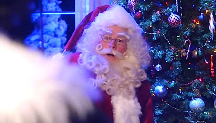 Evil Christmas.Santa Battles His Evil Goth Twin In Funny Late Show Vid