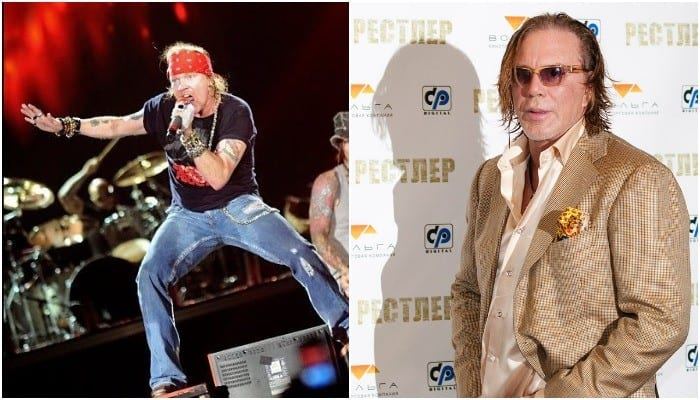 Axl Rose, Mickey Rourke mistaken for married couple on local