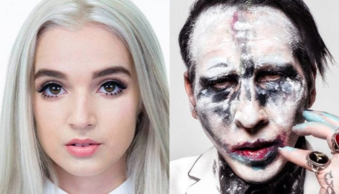 Poppy and Marilyn Manson
