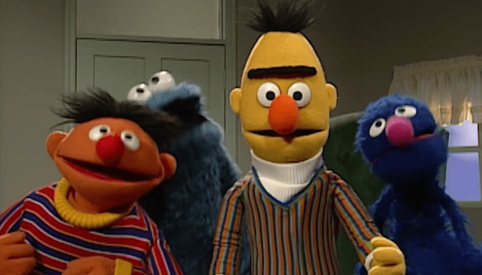 did this sesame street character slip in an f bomb