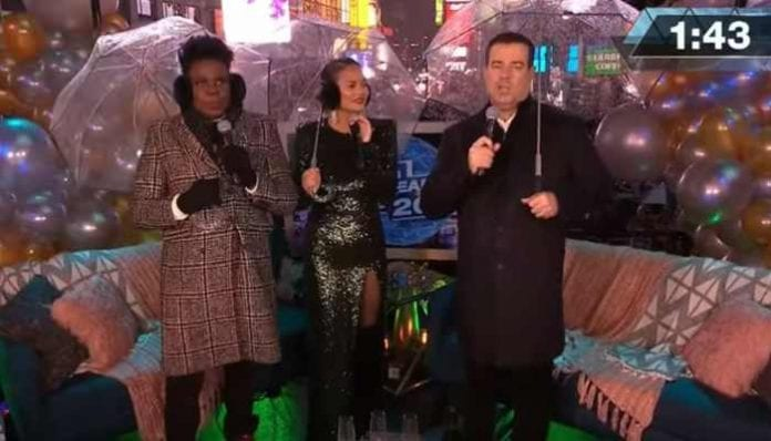 Carson Daly, Chrissy Teigen and Leslie Jones.