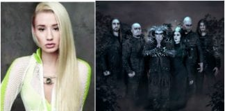 Iggy Azalea wears Cradle of Filth shirt