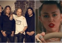 Metallica and Miley Cyrus