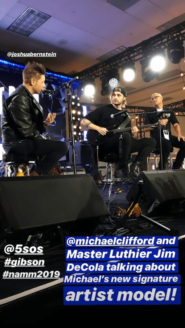 5 seconds of summer michael clifford gibson namm
