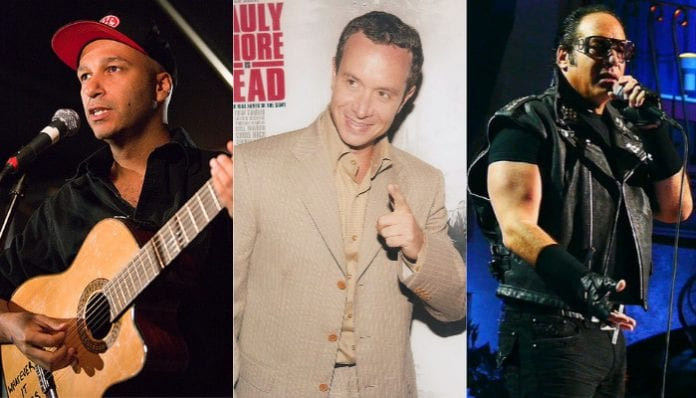 Sonic Temple speaking and comedy acts include Tom Morello, Pauly Shore and Andrew Dice Clay.