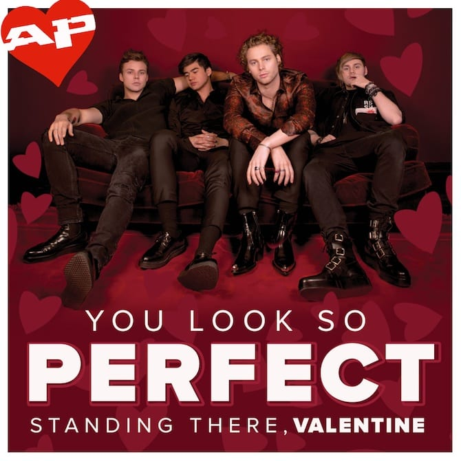 5 Seconds Of Summer AP VALENTINES DAY