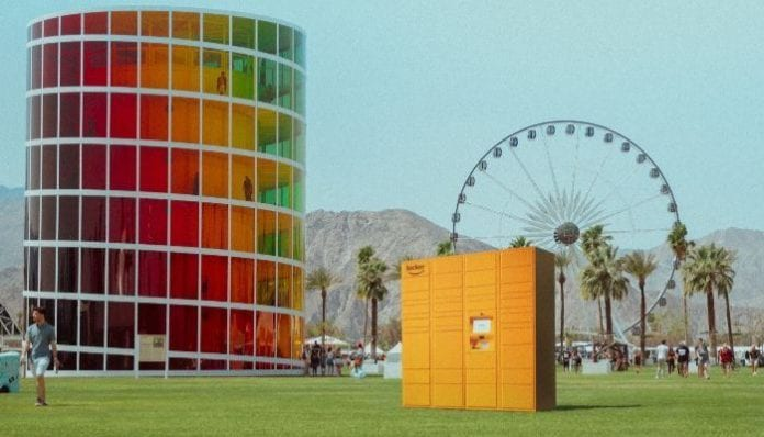 Coachella, Amazon Lockers
