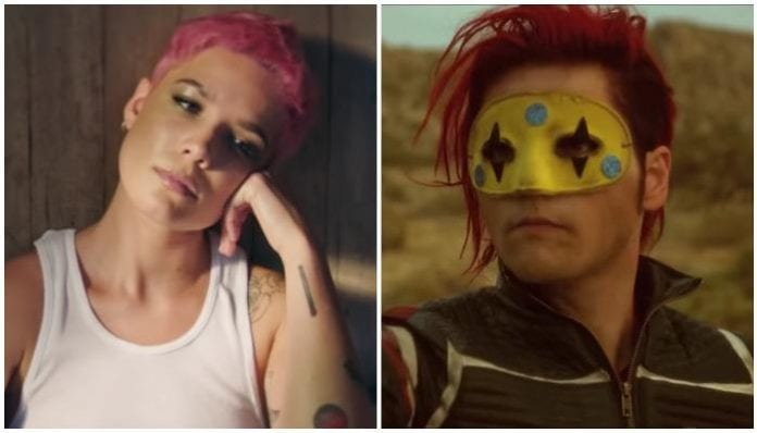 halsey gerard way red hair