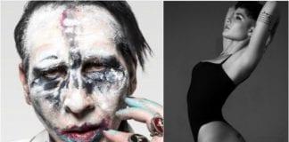 Halsey and Marilyn Manson
