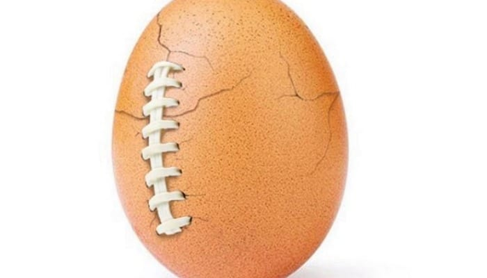 Instagram's most famous egg 'hatches' following Super Bowl