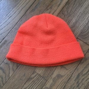 Heart Attack Man orange beanie