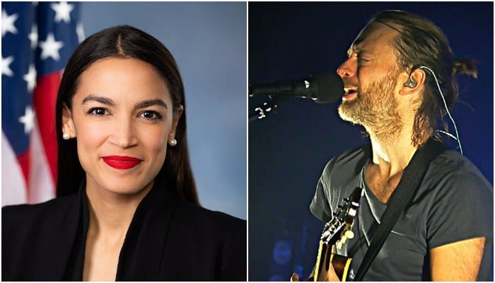 Alexandria Ocasio-Cortez's Green New Deal supported by Thom Yorke