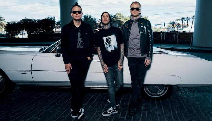 Travis Barker drums through new blink-182 following ankle injury