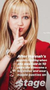 Miley Cyrus memes herself in honor of 'Hannah Montana' anniversary