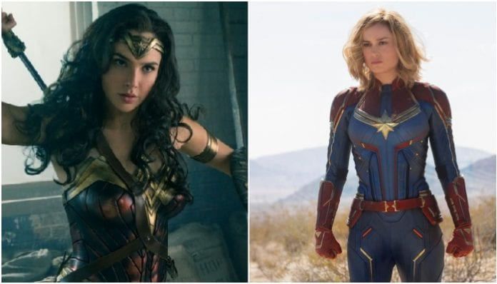 Captain Marvel and Wonder Woman