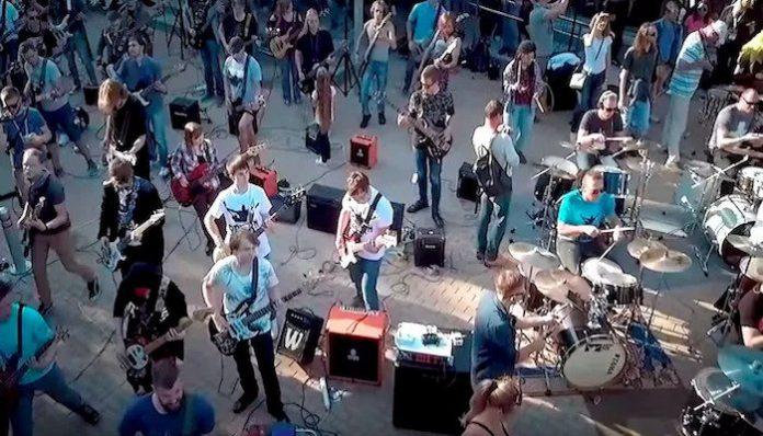 metallica russian flash mob