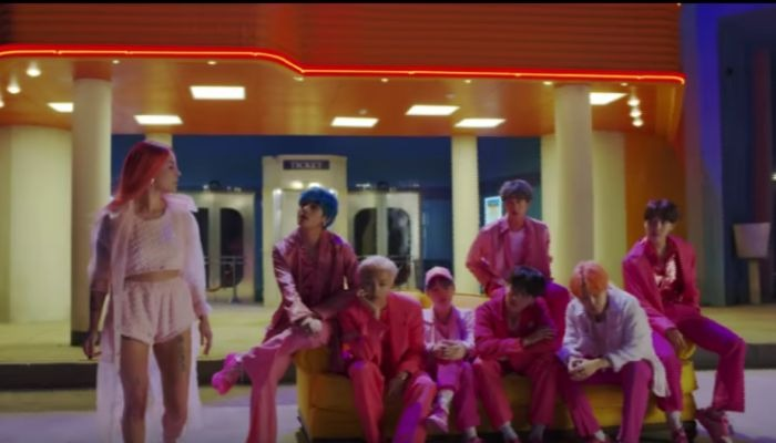 Fans are very into the teaser for Halsey's collab with BTS