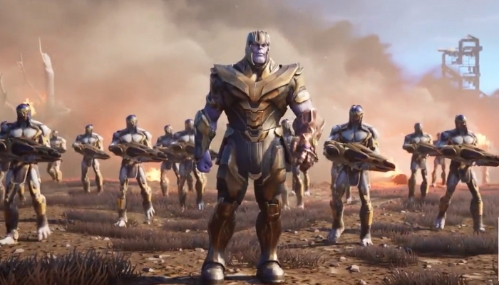 thanos descends upon fortnite in new avengers endgame mode alternative press - fortnite x endgame teaser 2