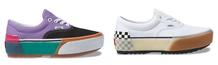 "Vans upgrades shoes with ""stacked"" platform option"