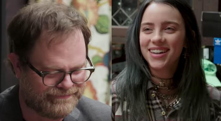 Billie Eilish tests 'The Office' fandom with Rainn Wilson
