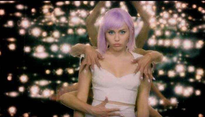 Watch Miley Cyrus return as Ashley O to play her Nine Inch Nails remix