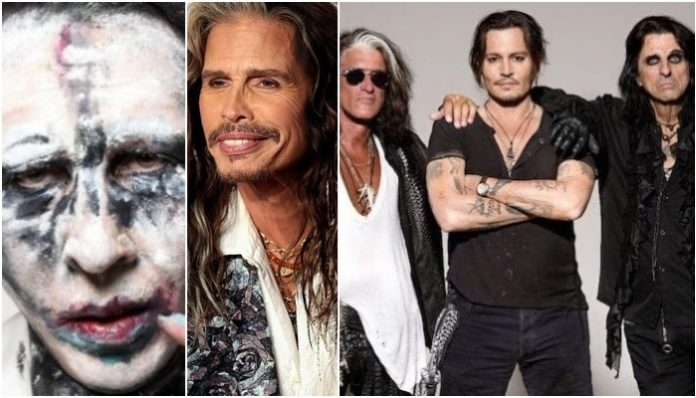 Marilyn Manson, Steven Tyler, Hollywood Vampires