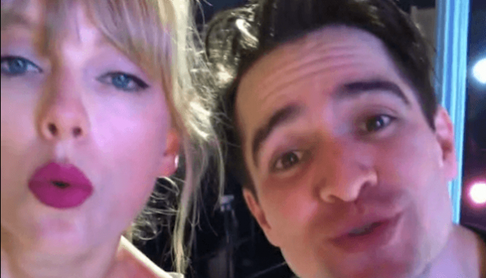taylor swift brendon urie me vertical