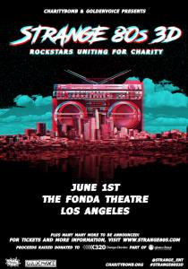 Strange 80s 3D benefit concert