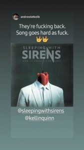 Sleeping With Sirens reveal time in second dark, cryptic teaser
