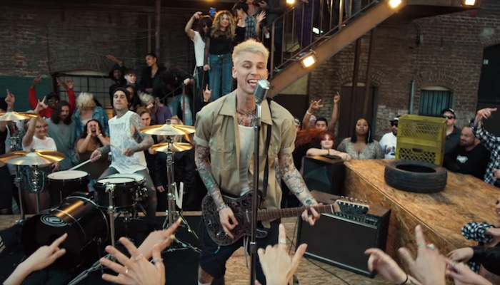 MGK breaks personal rock chart record with YUNGBLUD, Travis Barker song