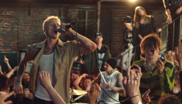 "Machine Gun Kelly, YUNGBLUD, Travis Barker debut ""I Think I'm Okay"" video"