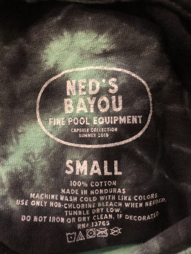 neds bayou shirt tag