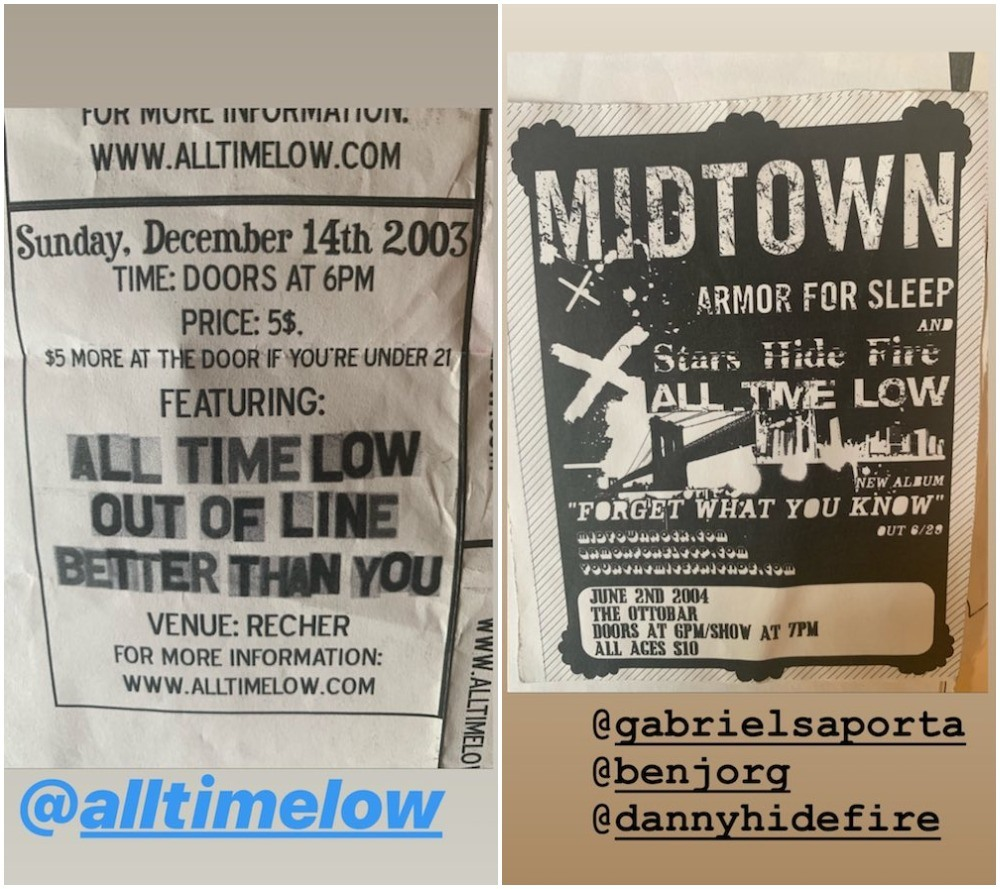 all time low throwback photos