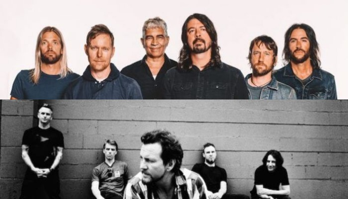 Foo Fighters, Pearl Jam members join ultimate rock jam set at festival